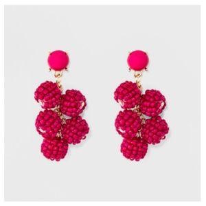 Sugarfix by Baublebar pink beaded ball earrings